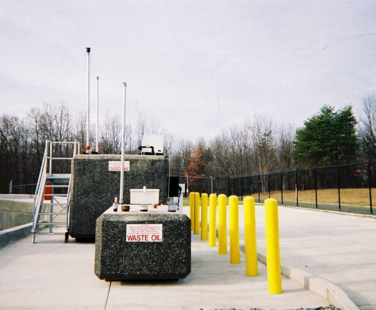 VA Quantico Dispensing Waste Oil